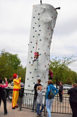 Ronald and rock climbing